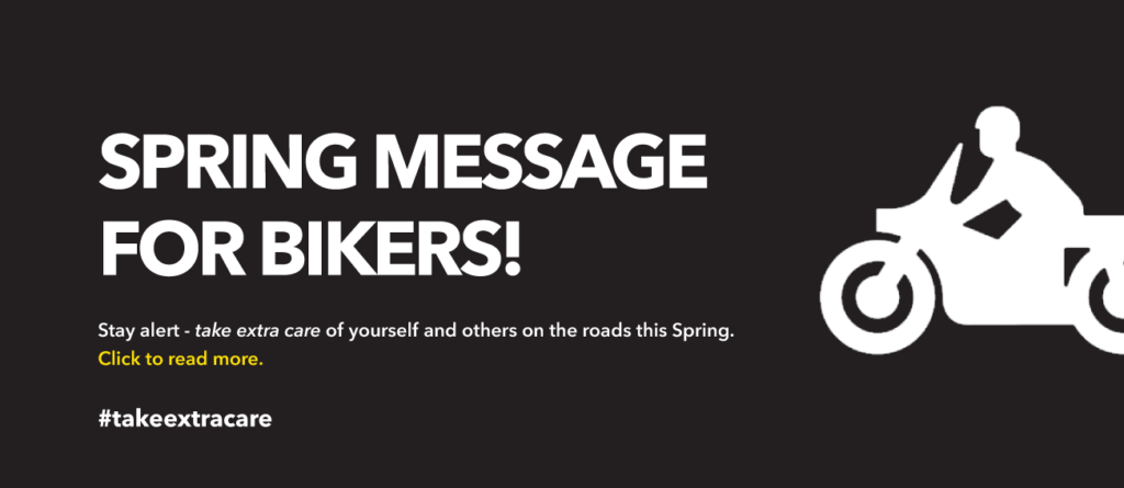 Spring message for bikers